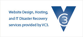 VC3 Web design, hosting and IT disaster recovery.
